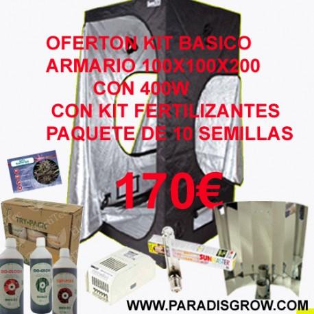Kit Básico 100x100x200 con 400w
