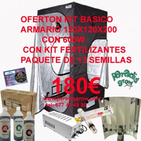 Kit Básico 120x120x200 con 600w